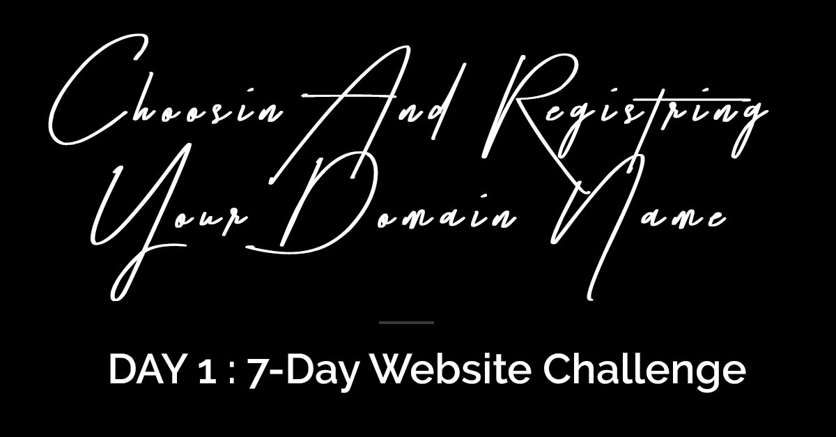 Choosing and Registering your domain name